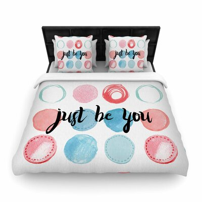 Just Be You Woven Duvet Cover Size: King
