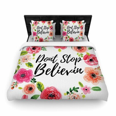 Dont Stop Believin Woven Duvet Cover Size: Twin