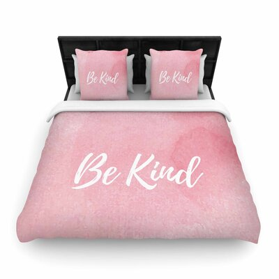 Be Kind Woven Duvet Cover Size: King