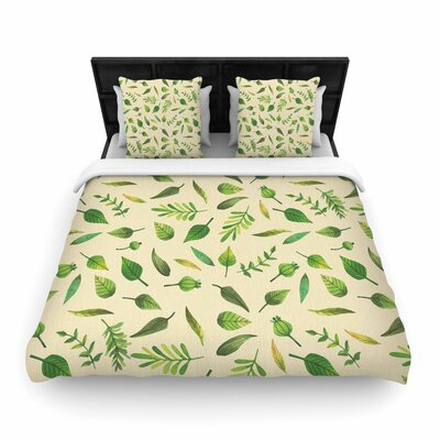 I Be-Leaf in You Woven Duvet Cover Size: King