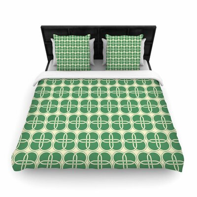 Celtic Crosses Pattern Woven Duvet Cover Size: Full/Queen