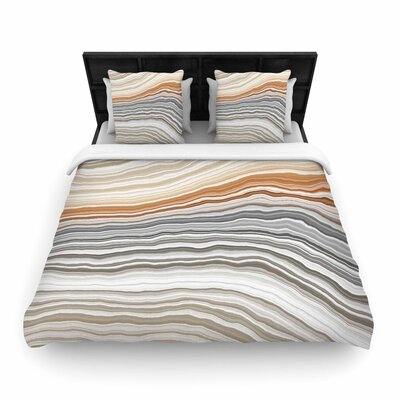 Vernal Pools Woven Duvet Cover Size: King
