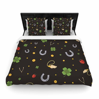 Charms Woven Duvet Cover Size: Twin