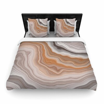 Burnt Geological Woven Duvet Cover Size: Twin