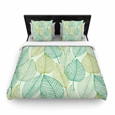 Make Like a Tree Pattern Woven Duvet Cover Size: Twin
