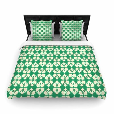 Celtic Pattern Woven Duvet Cover Size: Full/Queen