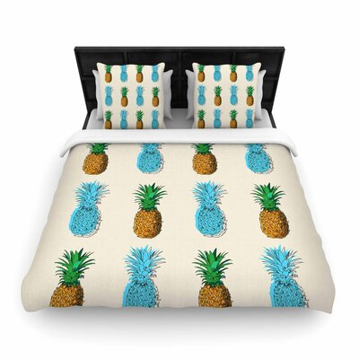 Fineapple Food Abstract Woven Duvet Cover Size: Full/Queen