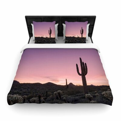 Tucson Sunset -Tags Woven Duvet Cover Size: King
