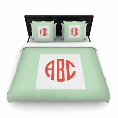 Classic Monogram Monogram Woven Duvet Cover Size: Full/Queen