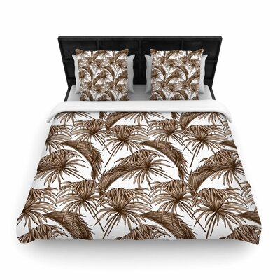 Palmtastic Abstract Woven Duvet Cover Color: Brown Abstract, Size: Twin