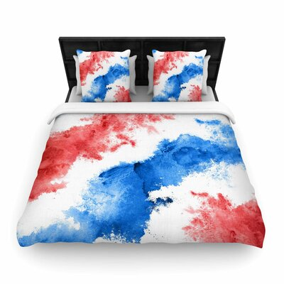 Patriotic Woven Duvet Cover Size: Twin