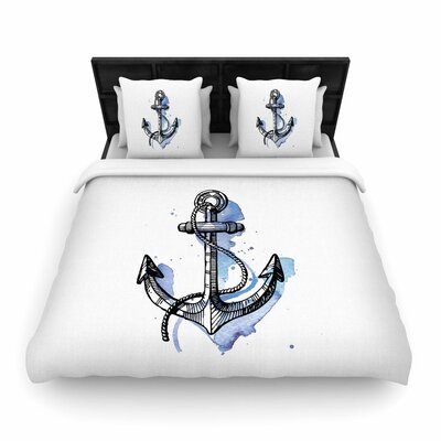 Anchor Woven Duvet Cover Size: King