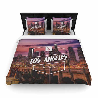 Los Angeles ll Woven Duvet Cover Size: Twin