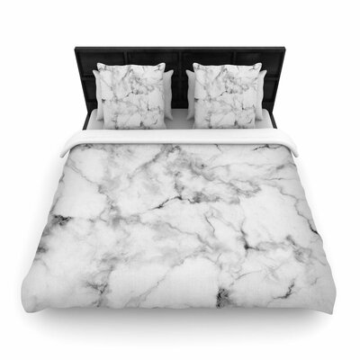 Marble Woven Duvet Cover Size: King