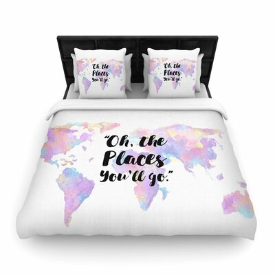 The Places Youll Go Woven Duvet Cover Size: Full/Queen