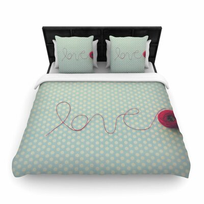 Kristi Jackson String of Love Photography Woven Duvet Cover Size: Twin