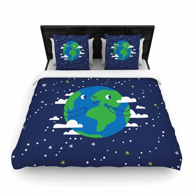 Happy Earth Woven Duvet Cover Size: King