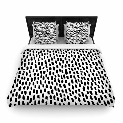 Ink Dots Woven Duvet Cover Size: Full/Queen