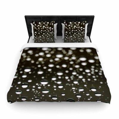 Kristi Jackson Rain Bokeh Woven Duvet Cover Size: Full/Queen