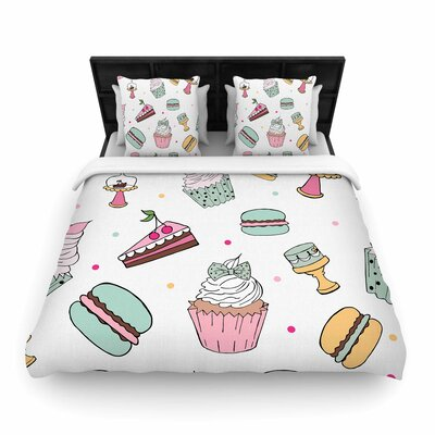 Louise Sweet Sweet Cake Food Woven Duvet Cover Size: King