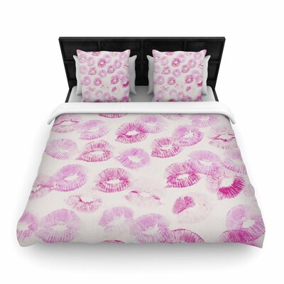 Kristi Jackson Kiss Me Woven Duvet Cover Size: Full/Queen