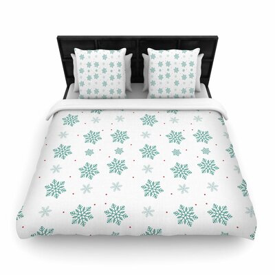 Louise Snow Woven Duvet Cover Size: King