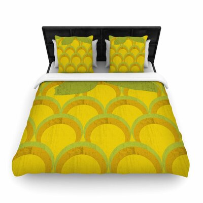 Kathleen Kelly Pineapple Digital Food Woven Duvet Cover Size: King