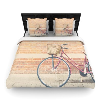 Laura Evans a Bicycle Woven Duvet Cover Size: Twin