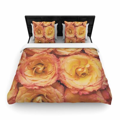 Kristi Jackson Bed of Roses Woven Duvet Cover Size: Full/Queen