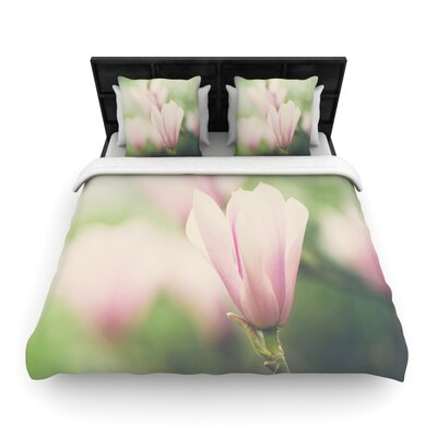 Laura Evans a Magnolia Woven Duvet Cover Size: King