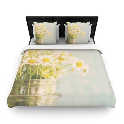 Laura Evans O Daisy Woven Duvet Cover Size: Twin