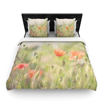 Laura Evans Fields of Remembrance Woven Duvet Cover Size: Twin