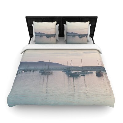 Laura Evans As the Sun Goes down Woven Duvet Cover Size: King