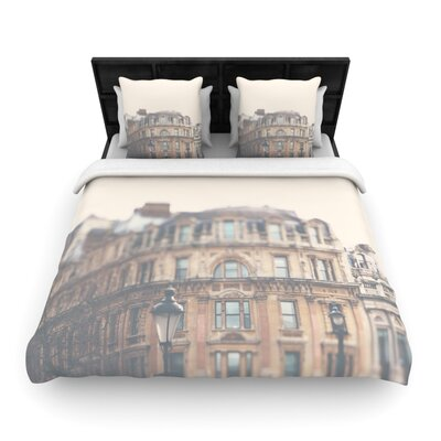Laura Evans London Town Woven Duvet Cover Size: Full/Queen