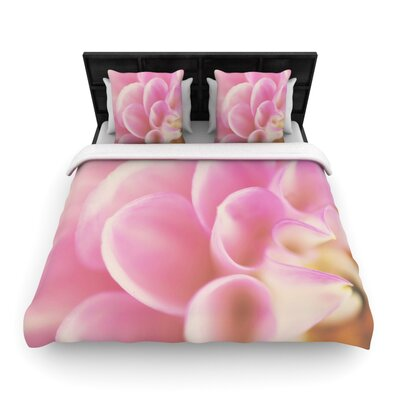 Laura Evans up Close & Personal Floral Woven Duvet Cover Size: Full/Queen