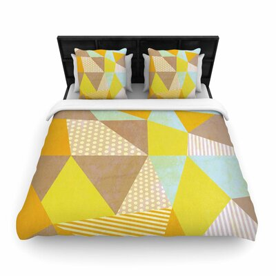 Louise Machado Geometric Woven Duvet Cover Size: King