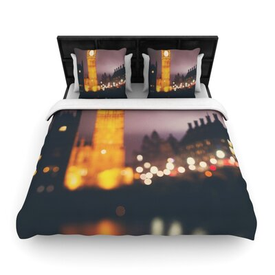 Laura Evans Westminster at Night Woven Duvet Cover Size: King