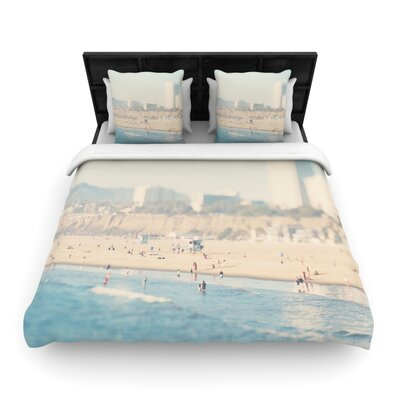 Laura Evans Santa Monica Beach Woven Duvet Cover Size: Twin