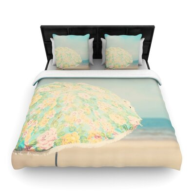 Laura Evans a Summer Afternoon Woven Duvet Cover Size: King
