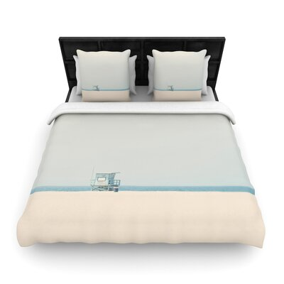 Laura Evans Tower 17 Coastal Woven Duvet Cover Size: King