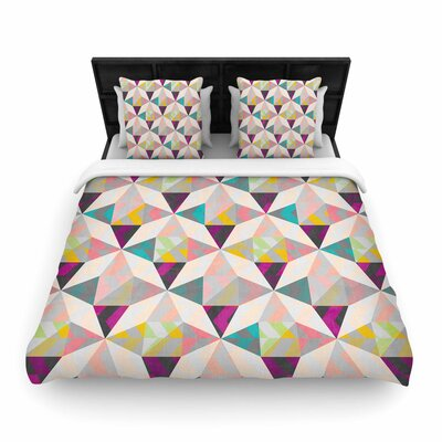 Louise Machado True Diamonds Woven Duvet Cover Size: King