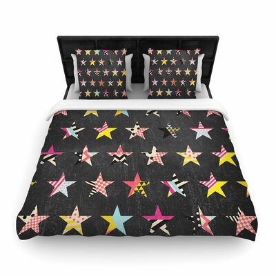 Louise Machado Dancing Stars Woven Duvet Cover Size: King
