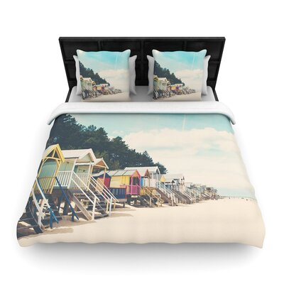 Laura Evans Small Spaces Beach Coastal Woven Duvet Cover Size: Full/Queen