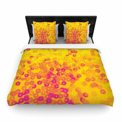 Louise Machado Dots Mixed Woven Duvet Cover Size: Twin