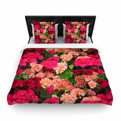 Louise Machado Geranios Floral Woven Duvet Cover Size: Full/Queen