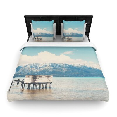 Laura Evans Down by the Lake Woven Duvet Cover Size: Full/Queen