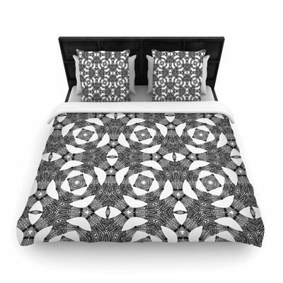 Laura Nicholson Twiggy Boxes Geometric Woven Duvet Cover Size: Twin