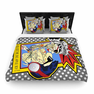 Lazar Milanovic You Got the Big Apple Boy! Woven Duvet Cover Size: King