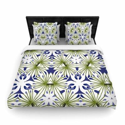 Laura Nicholson Thalia Floral Woven Duvet Cover Size: Full/Queen