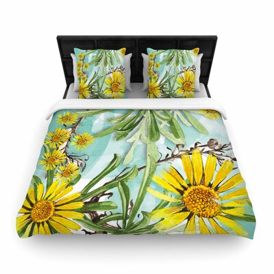 Liz Perez Sunny Day Floral Woven Duvet Cover Size: Twin